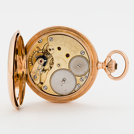 J-assmann, glashÜtte, i/sachsen, pocketwatch, 52 mm, hunter.