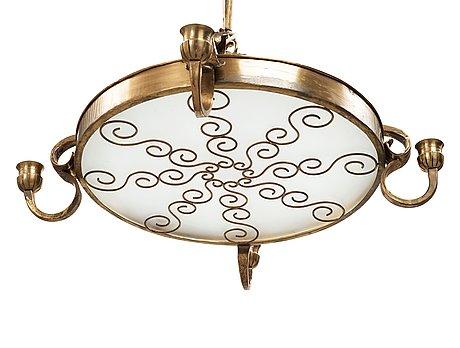 Lars holmström, a swedish grace brass chandelier, arvika, sweden.