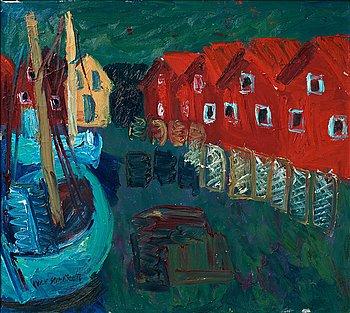 """269. Inge Schiöler, """"Fiskebryggan, Ramsö""""."""