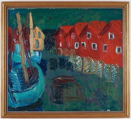"""Inge schiöler, """"fiskebryggan, ramsö""""."""