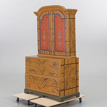 A Swedish painted cabinet late 19th century.