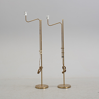 A pair of floor lamps by Bergboms, 20th century.