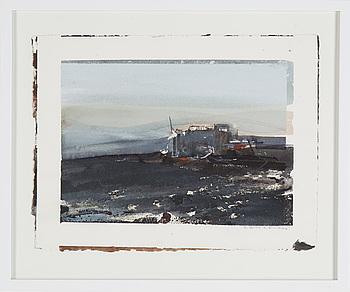LARS LERIN, akvarell på papper, signerad Lars Lerin med blyerts.
