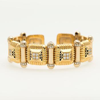 ARMRING, briljantslipade diamanter, 22K guld.