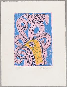 BEVERLOO CORNEILLE, litografi, signerad och daterad -87, numrerad 67/199.