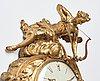 "A louis xv mid 18th century gilt bronze wall clock marked ""caffieri fecit""."