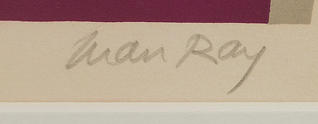 MAN RAY, MAN RAY, lithograph in colours signed and numbered ...