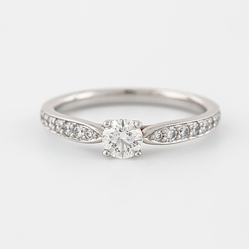 TIFFANY & CO., ring med briljantslipad diamant 0.29 ct.