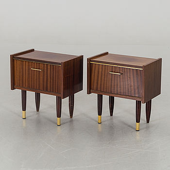 A PAIR OF BED TABLES FROM THE MIDDLE OF 20TH CENTURY,