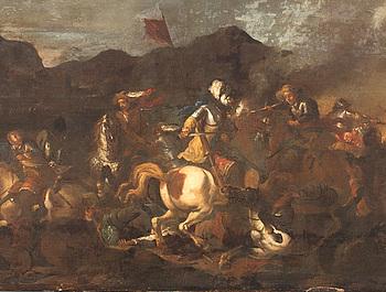 GEORG PHILIPP RUGENDAS, hans art, olja på duk.