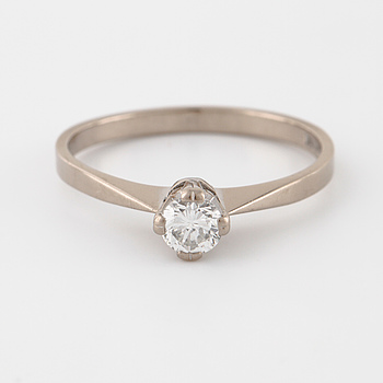 A brilliant cut diamond ring by Gustav Dahlgren & Co, Malmö, 1965.