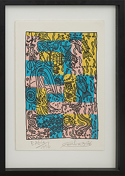 ROBERT COMBAS, ROBERT COMBAS, litograph in color, signed and numbered, EA 64/116,
