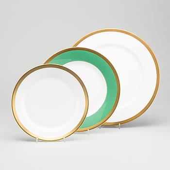"SERVISDELAR, 6+6+6 st, porslin ""Nobel"" Rörstrand. Design Karin Björquist."