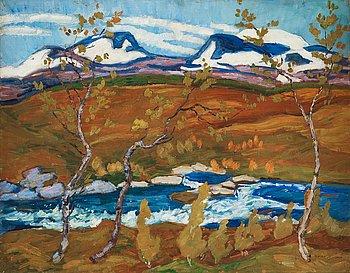 "255. Helmer Osslund, ""Lapporten om våren"" (Spring in Čuonjávággi/""Goose Valley"" in the north of Sweden)."