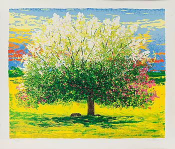 LEIF KANDER, färglitografi, numrerad 50/100 samt signerad.