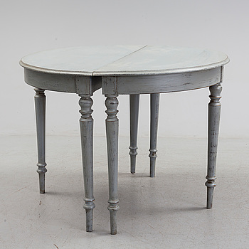 A pair of painted tables, second half of the 19th century.