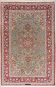 A carpet, Old Esfahan, around 304 x 197 cm.