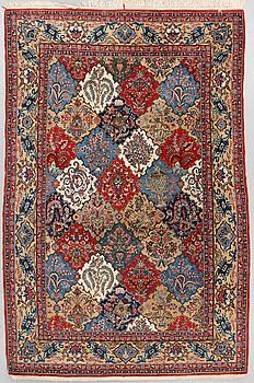 A rug, Old Qum, around 249 x 163 cm.