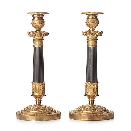 Ljusstakar, ett par, frankrike, 1800-talets början, empire.