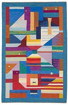 """217. AGDA ÖSTERBERG, MATTA, """"Drömsyn"""", rölakan, ca 256,5 x 164,5 cm,  signerad AÖ (Agda Österberg)."""