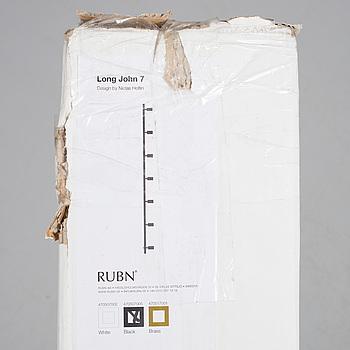 """TAKLAMPA, design by Niclas Hoflin, för RUBN, """"Long John 7"""", med originalförpackning."""