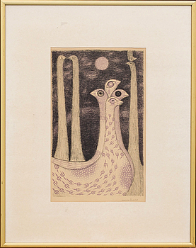 MAX WALTER SVANBERG, MAX WALTER SVANBERG, colour lithographe, signed and dated 50.