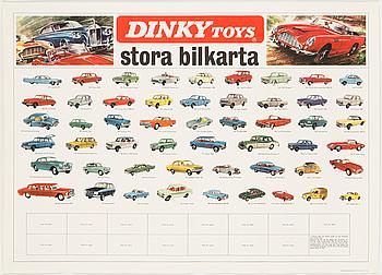 AFFISCH, Dinky Toys, tidigt 1960-tal.