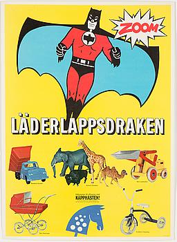 """AFFISCH, """"Läderlappsdraken"""", 1960-tal."""