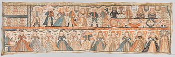 BONADSMÅLNING, 1800-tal, märkt anno 1804 ADS.