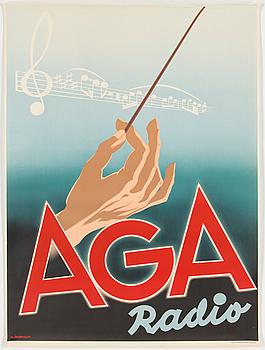 An AGA Radio poster, 1940.