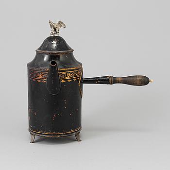KAFFEKANNA, koppar, sengustaviansk, i O.F Richmans art, sannolikt Falun 1800-talets början.