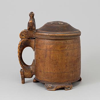 DRYCKESKANNA, trä, Norge, 17/1800-tal.