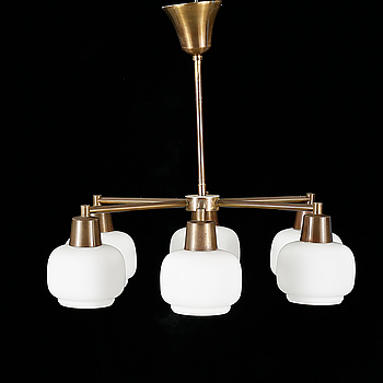 A ceiling lamp attributed to Arnulf Bjørshol, Norway, from the latter half of the 20th century.