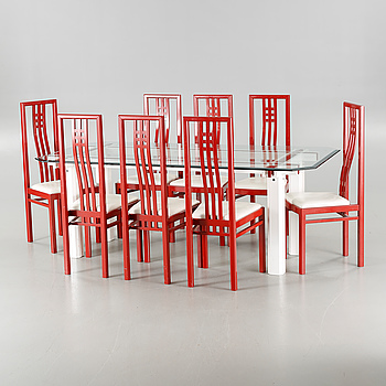 A dining set of nine pieces from Wards Atelier.