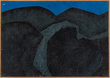 """OLLE GILL, """"Nattligt landskap"""", olja på duk, signerad och daterad -69."""