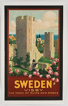 IVAR GULL, lithographic poster, Statens Reproduktionsanstalt, Stockholm, 1937.