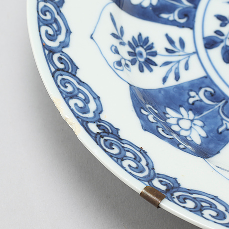 10812700 thumb; 10812702 thumb ...  sc 1 st  Bukowskis & A pair of blue and white Chinese dinner plates from Kangix period ...