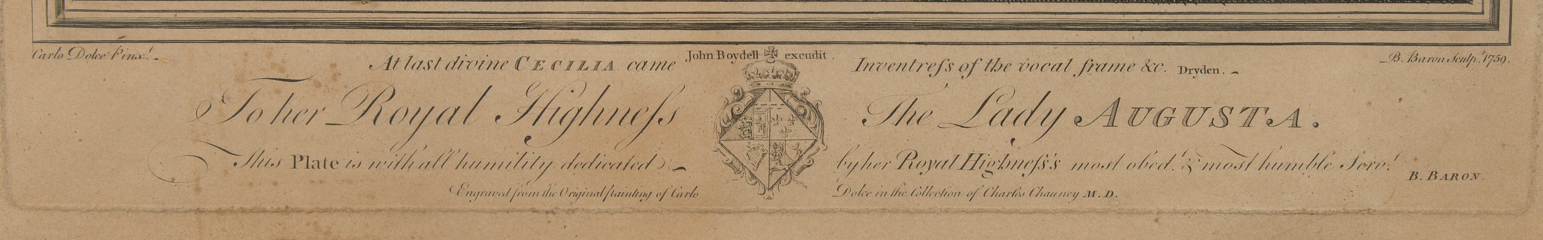 after, copper engraving, John Boydell excudit, B Baron 1759
