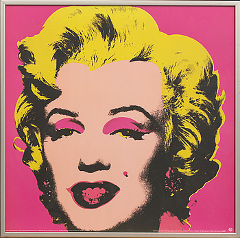 """ANDY WARHOL, efter, offsetlitografi / poster, """"Marilyn Monroe"""", 1993. """"Published by teNeues Publishing Company, New York."""