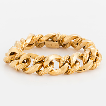 A bracelet, 18K gold. Swedish import mark.