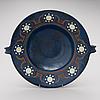 A ceramic bowl signed a.w.f. iris  finland.