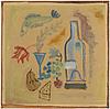 Stig lindberg, olja på pannå, utförd vintern 1940 41