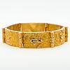 """A bjÖrn weckstrÖm bracelet,  """"velvet clouds"""", 14k gold. lapponia 1967"""