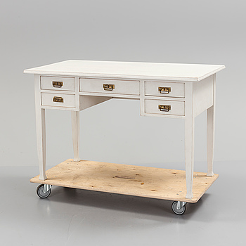 An early 20th century painted writing desk.