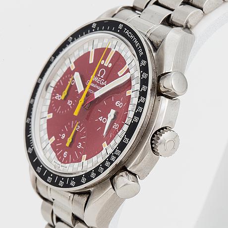 "Omega, speedmaster, racing, ""michael schumacher"", ""tachymetre"", chronograph, wristwatch, 39 mm,"