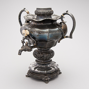 SAMOVAR, silver, Adolf Speer, St.Petersburg 1845.
