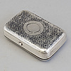 A russian silver and niello tobacco cheroot box, unidentified maker's mark, moscow, 1855-1888.