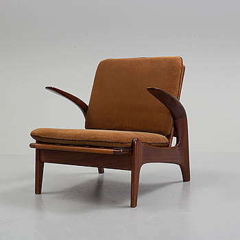 ROLF RASTAD AND ADOLF RELLING, a teak 'Rock n' Rest' easy chair from Arnestads Bruk, Norway, 1950's/60's.