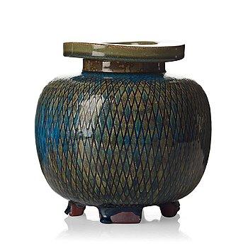 45. Wilhelm Kåge, a 'Farsta' stoneware jar, Gustavsberg studio 1957.