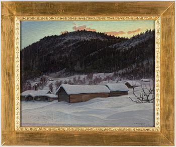 ANSHELM SCHULTZBERG, Olja på duk, signerad och daterad Dalarne 1903.